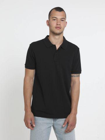חולצת פולו עם רקמת לוגו Regular Fit