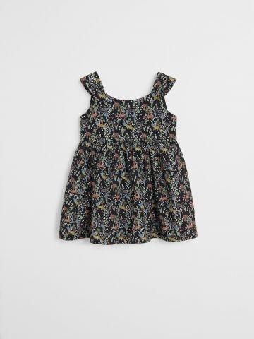 שמלת מיני מתרחבת בהדפס חיות \ 9M-4Y