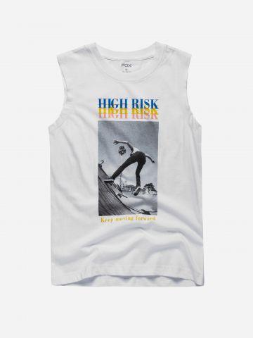 גופייה עם הדפס High Risk / בנים