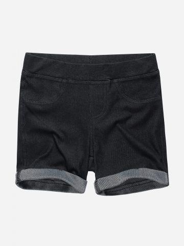 טייץ קצר דמוי ג'ינס / בנות