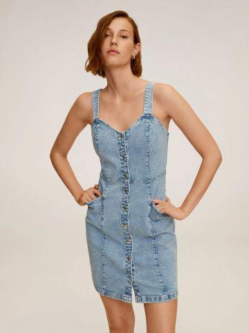 שמלת ג'ינס מיני עם כפתורים של MANGO
