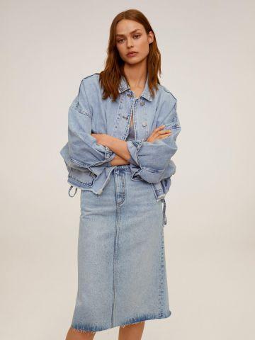 חצאית ג'ינס בגזרה מתרחבת של MANGO