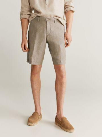 מכנסי פשתן בסגנון ברמודה