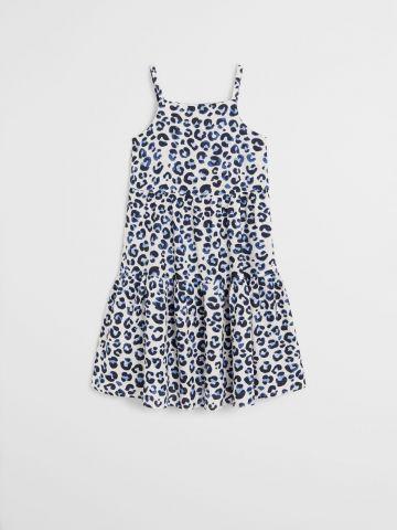 שמלה בהדפס מנומר בסגנון קומות / בנות של MANGO