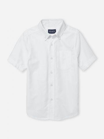 חולצה מכופתרת עם כיס / בנים