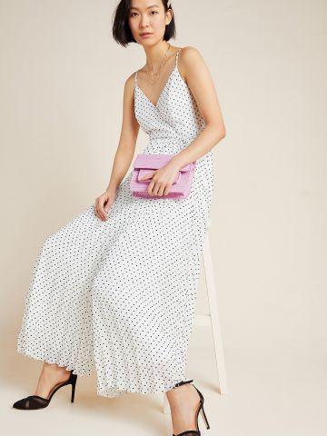 שמלת מקסי פליסה עם נקודות