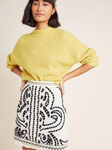 חצאית מיני ברקמת צורות אתניות Maeve