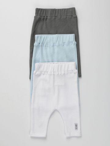 מארז 3 מכנסי סריג בצבעים שונים / 0-2Y