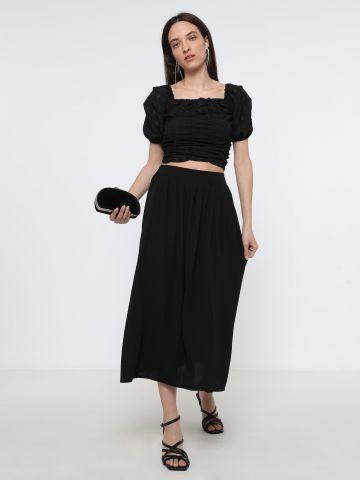 חצאית מידי מבד נשפך
