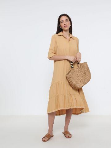 שמלת מידי קומות עם כפתורים