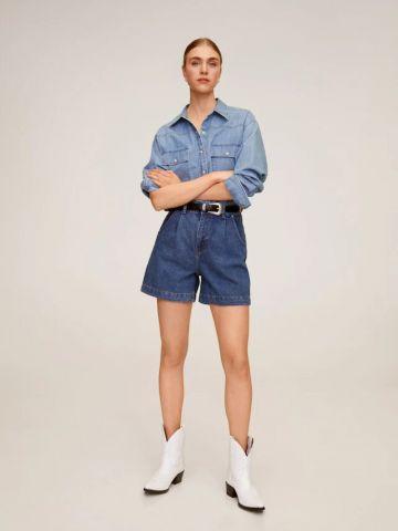 ג'ינס קצר בגזרה גבוהה של MANGO