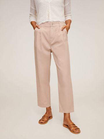 מכנסי קרופ בגזרה ישרה של MANGO