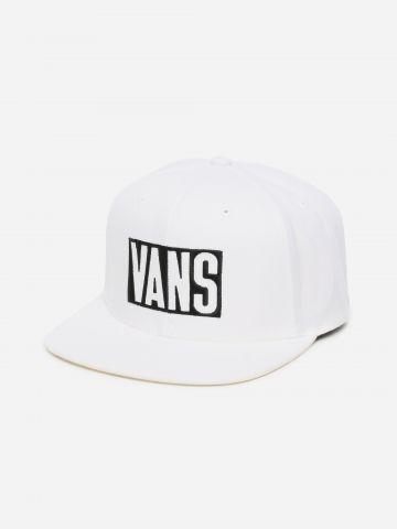 כובע מצחייה בשילוב צמר עם לוגו / גברים