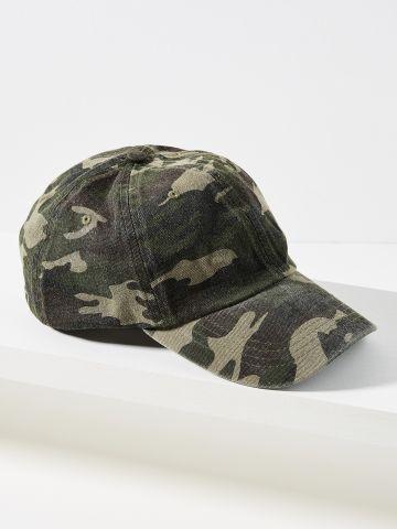 כובע מצחייה בהדפס קמופלאז'