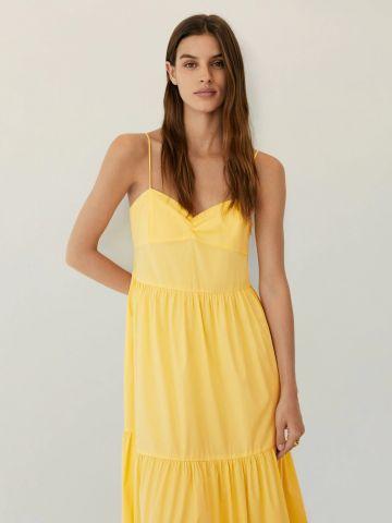 שמלת מקסי בסגנון קומות עם כתפיות דקות של MANGO