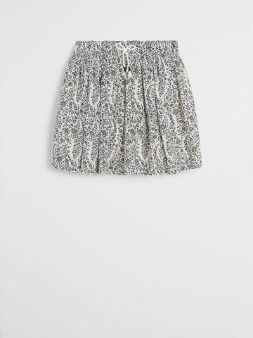 חצאית מיני בהדפס פרחים / בנות