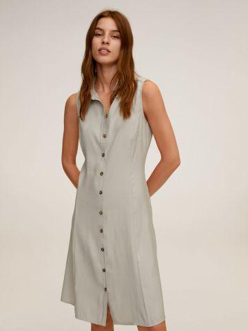 שמלת מיני מכופתרת בגזרה מתרחבת של MANGO