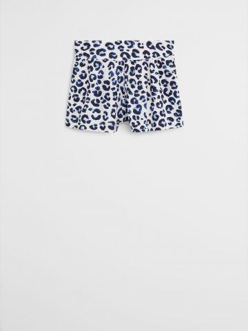 מכנסיים קצרים מבד נשפך בהדפס מנומר / בנות של MANGO