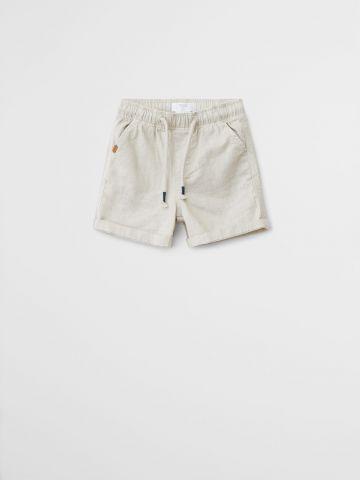 מכנסי פשתן קצרים בסגנון ברמודה / 9M-4Y של MANGO