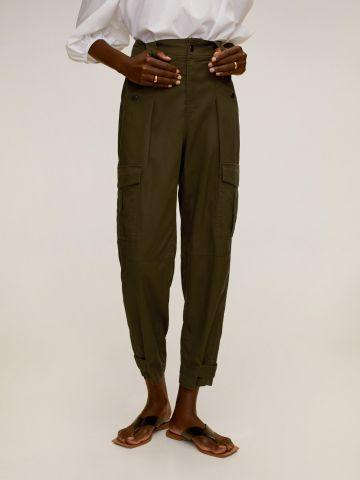 """מכנסי דגמ""""ח ארוכים עם כיסים של MANGO"""