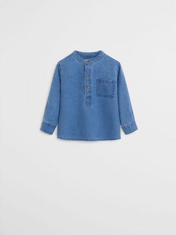 חולצת ג'ינס עם כפתורים / 9M-4Y
