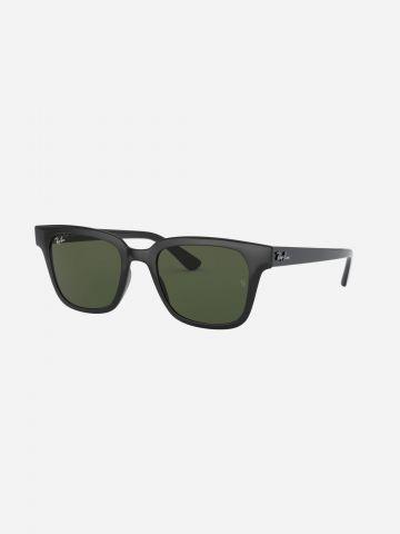 משקפי שמש מלבניים עם מסגרת פלסטיק Wayfarer