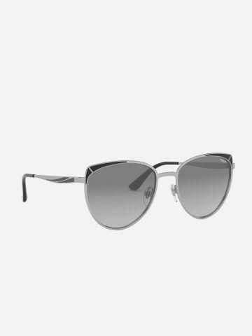 משקפי שמש עדשות אומברה עם מסגרת מתכת / נשים של vogue eyewear