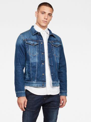 ג'קט ג'ינס עם כיסים Slim