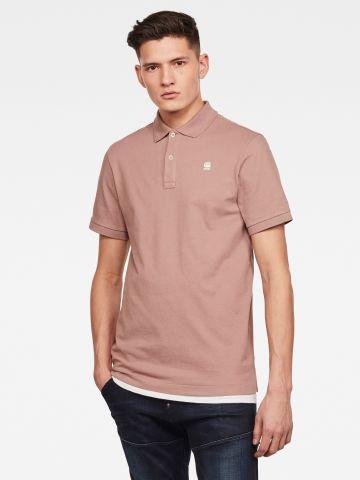 חולצת פולו עם רקמת לוגו Slim