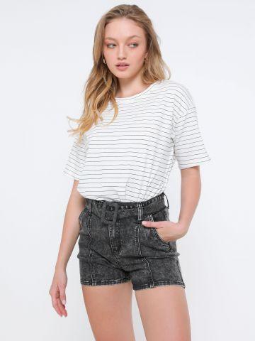 ג'ינס ווש עם חגורה של TERMINAL X