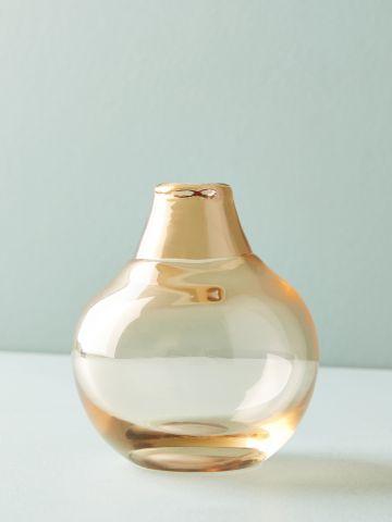 אגרטל זכוכית עגול עם צוואר בקבוק / מיני