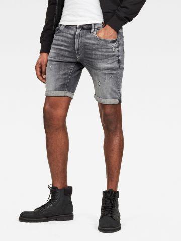 מכנסי ג'ינס אסיד ווש קצרים Slim