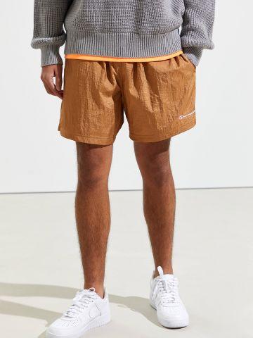 מכנסי ניילון קצרים עם לוגו Champion