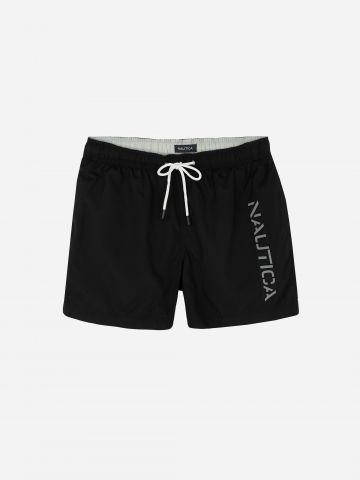 מכנסי בגד ים עם הדפס לוגו / גברים