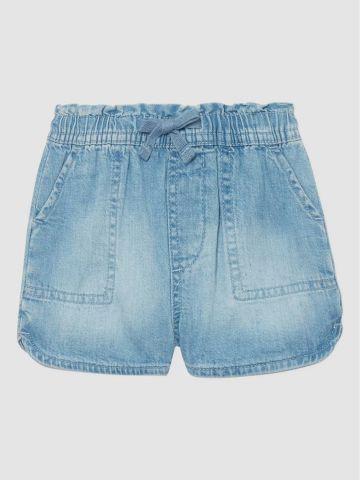 ג'ינס קצר בשטיפה בהירה / 12M-5Y של GAP