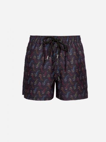 מכנסי בגד ים בהדפס מדוזות / גברים