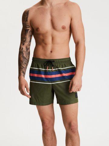 מכנסי גלישה עם הדפס פסים של AMERICAN EAGLE