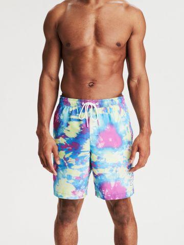 מכנסי בגד ים בהדפס טאי דאי