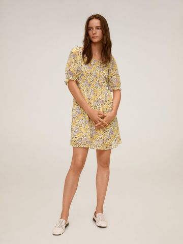 שמלת מיני בהדפס פרחים של MANGO