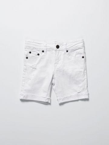 ג'ינס ברמודה עם קרעים / בנים