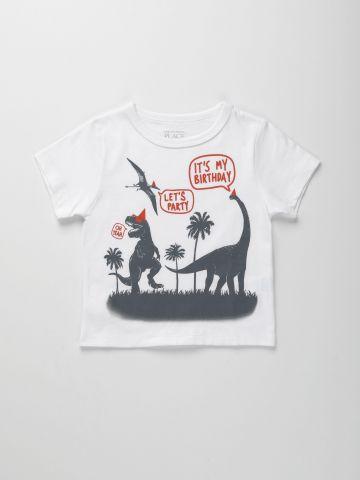 טי שירט עם הדפס דינוזאור / 9M-4Y של THE CHILDREN'S PLACE