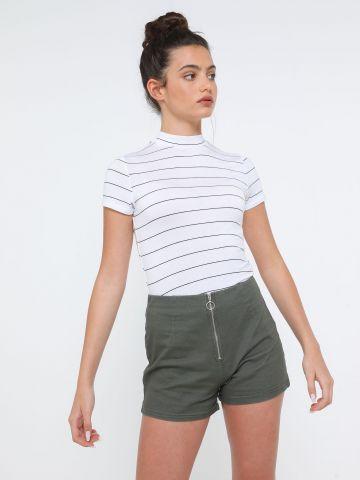 מכנסיים קצרים עם רוכסן של TERMINAL X