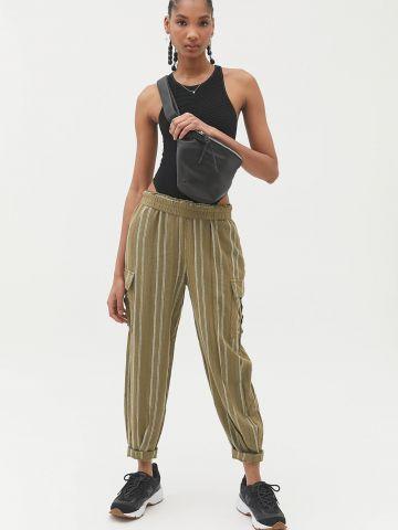 מכנסי פשתן פסים עם כיסים BDG
