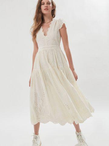 שמלת תחרה מידי עם עיטורים UO