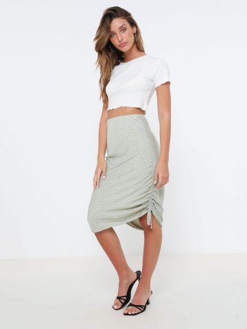 חצאית מידי בדוגמת חברבורות עם כיווצים