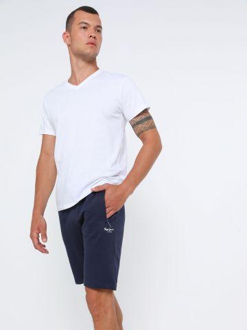 מכנסי טרנינג קצרים עם כיסים