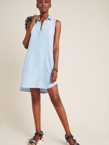 שמלת מיני וי דמוי ג'ינס Cloth & Stone