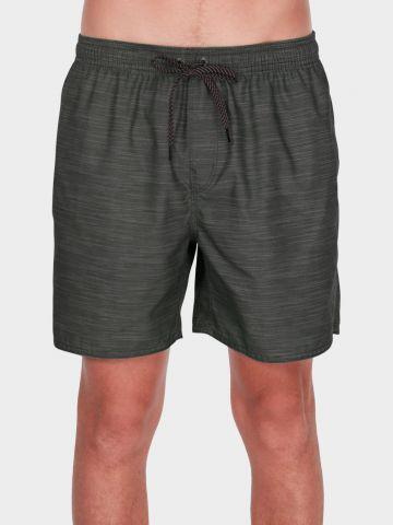 מכנסי בגד ים בהדפס פסים דקים/ גברים