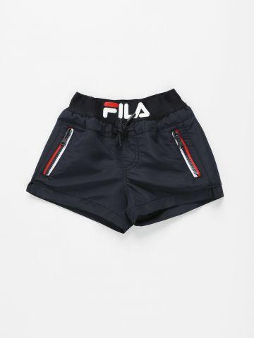 מכנסי בגד ים עם לוגו / בנים