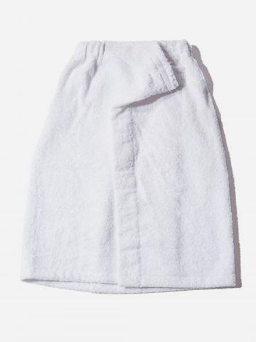 מגבת גוף מעטפה בשילוב סקוץ'